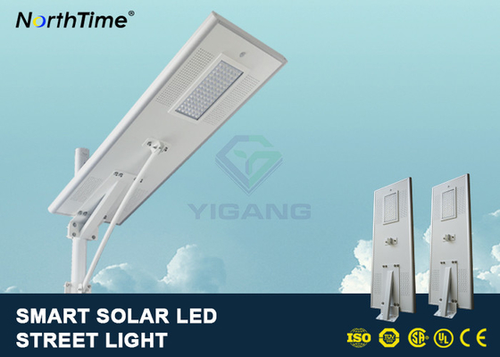 Trung Quốc PIR Motion Sensor Street Lights With Solar Panel For Parking Lot 7500 - 8000LM nhà máy sản xuất